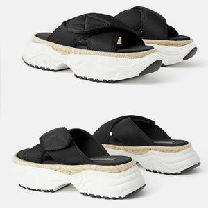 Zara Shoes - NWT zara flat padded athletic sandal size 37